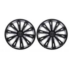 Колпаки колесные декоративные (комплект 4 шт.) R16 (Гига темный) (Star)