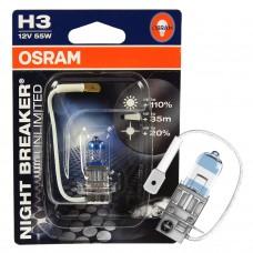 лампа галогенная OSRAM Night Breaker Unlimited 12v 55W PK22s H3