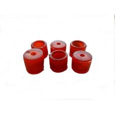 Вкладыши рулевых наконечников Москвич-412-2140 (красные) (Украина)
