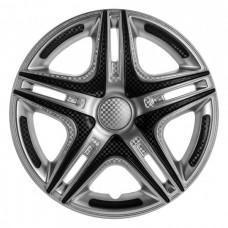 Колпаки колесные декоративные (комплект 4 шт.) R13 (Дакар Super Silver) (Star)
