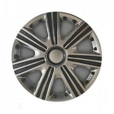 Колпаки колесные декоративные (комплект 4 шт.) R15 (DTM Super Silver) (Star)