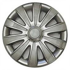 Колпаки колесные декоративные (комплект 4 шт.) R15 (Карат светлый) (Star)