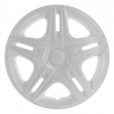 Колпаки колесные декоративные (комплект 4 шт.) R16 (Дакар белый) (Star)