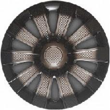 Колпаки колесные декоративные (комплект 4 шт.) R16 (Карат темный) (Star)